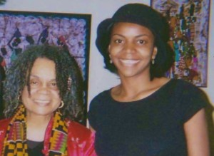 Sonia Sanchez and CF Jalylah at the Spelman College Women's Research and Resource Center