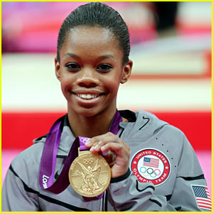 Gabby Douglas, last year, after winning a gold medal