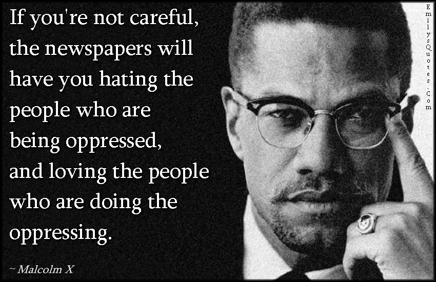 Malcolm X newspaper quote