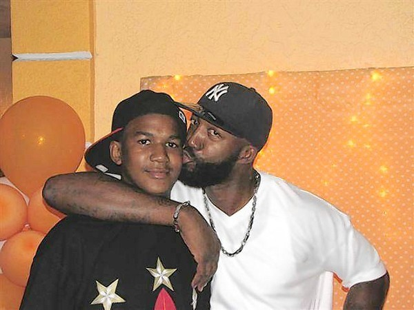 Trayvon and his father, Tracy.