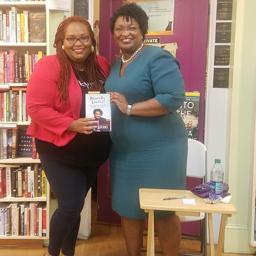 a63baa9a49b Stacey Abrams with CF Susana at Charis Books