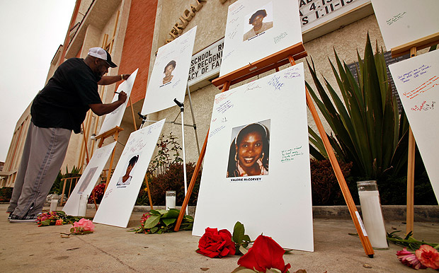 community memorial for victims of the Grim Sleeper