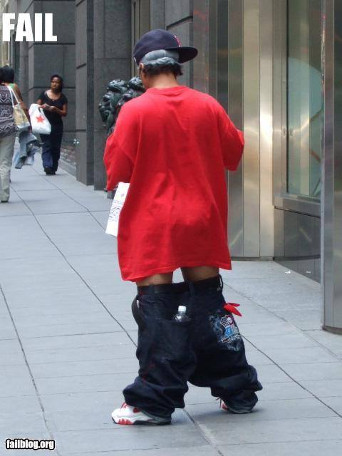Man with sagging pants.